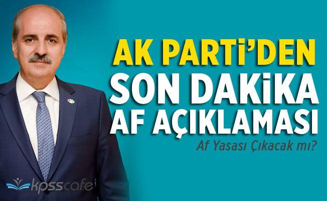 Ak Parti'den Af Açıklaması!