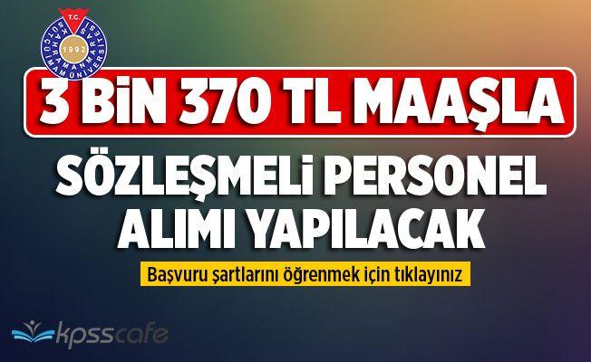3 BİN 370 TL Maaşla Sözleşmeli Hemşire Alacak!