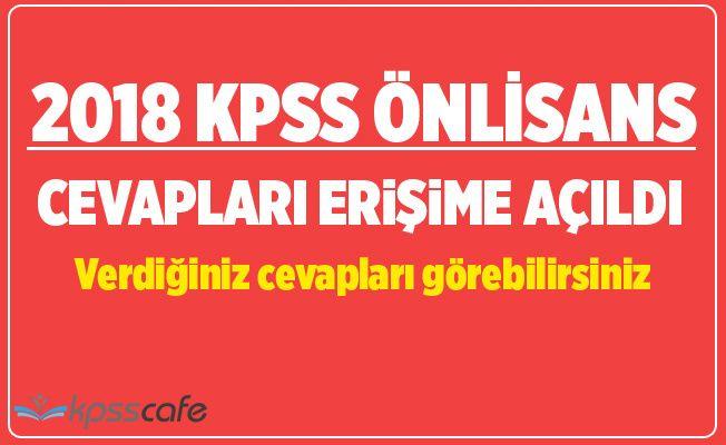 2018-KPSS Ön Lisans Cevapları Yayımlandı