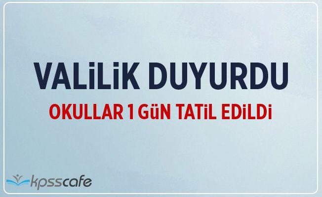 Edirne Valiliği duyurdu: Okullar 1 gün tatil edildi