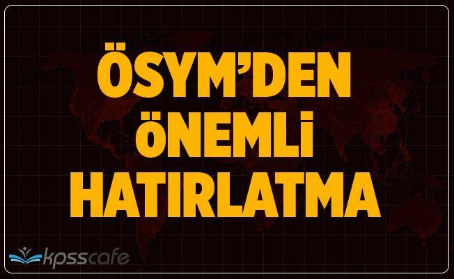 ÖSYM'den Önemli YDS Hatırlatması!