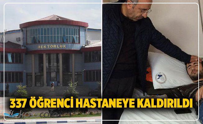 337 öğrenci hastaneye kaldırıldı