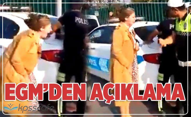 Trafik polislerince durdurulunca çığlık atan kadının videosuyla ilgili inceleme başlatıldı