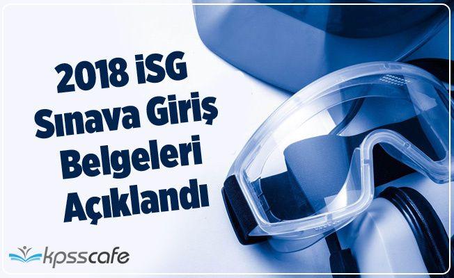 2018-İSG 2. Dönem: Sınava Giriş Belgeleri Açıklandı
