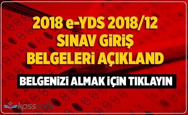 e-YDS 2018/12 (İngilizce) Sınava Giriş Belgeleri Açıklandı
