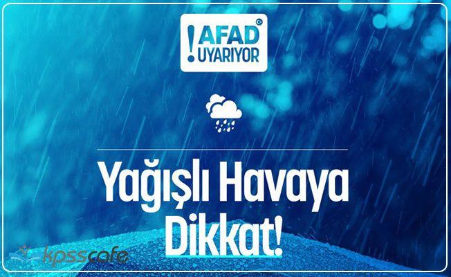 AFAD'dan Önemli Uyarı!