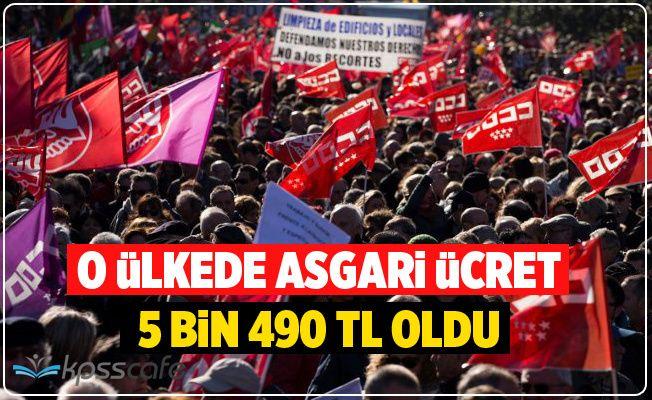 O Ülkede Asgari Ücret 5 Bin 490 TL Oldu!