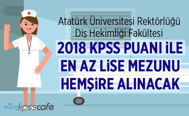 2018 KPSS ile En Az Lise Mezunu Hemşire Alınacak