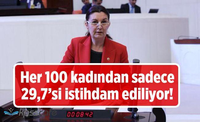 Her 100 kadından sadece 29,7'si istihdam ediliyor!