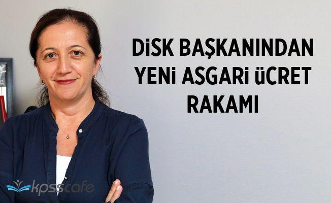 DİSK Genel Başkanı Çerkezoğlu: TÜİK'in 2 bin 213 lira önerisi baz alınmalı