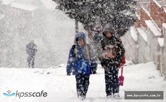 Van Bahçesaray'da okullara kar tatili