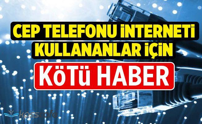 Telefonların İnterneti İle İlgili Kötü Haber: Ek Ücret Ödenecek