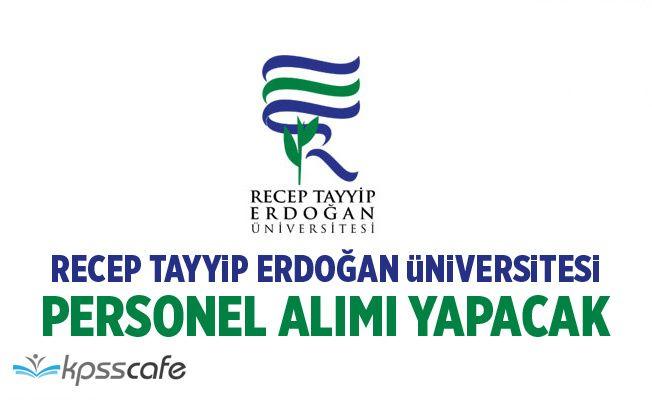 Recep Tayyip Erdoğan Üniversitesi 11 Öğretim Üyesi Alacak