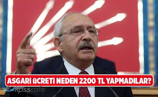 Kılıçdaroğlu'ndan Asgari Ücret Açıklaması!
