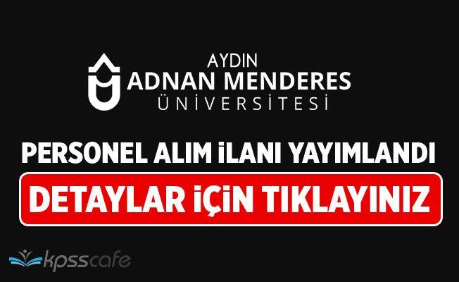 Aydın Adnan Menderes Üniversitesi Personel Alacak!