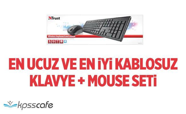 En Uygun Fiyatlı Kablosuz Mouse ve Klavye Seti! Migros Klavye Seti!