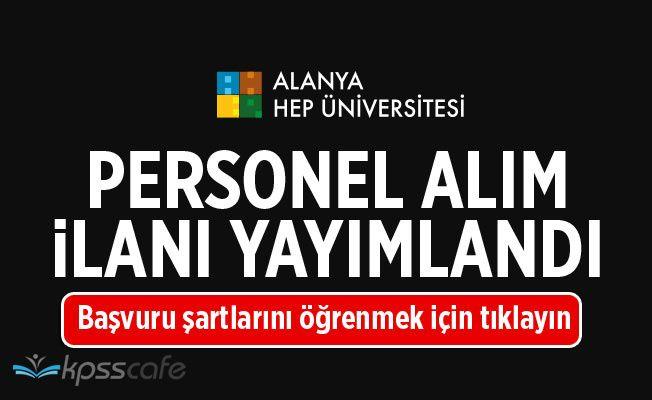 Alanya Hamdullah Emin Paşa Üniversitesi Personel Alımı Yapıyor!