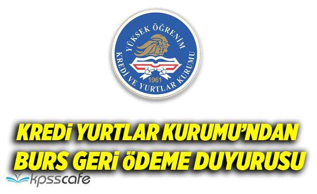 KYK'dan Kredi Geri Ödeme Duyurusu!