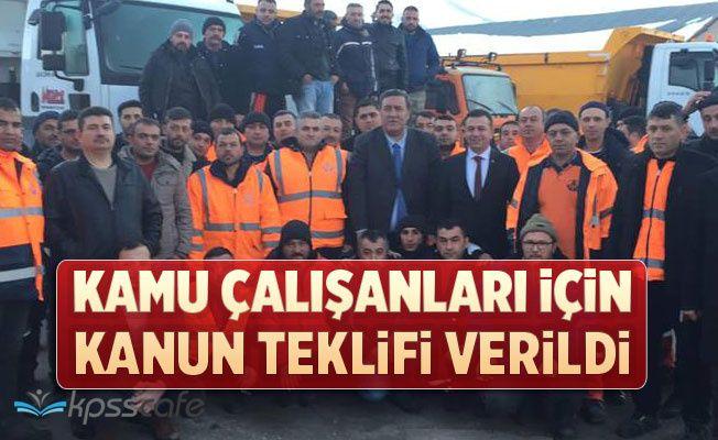 Kamu Çalışanları İçin Kanun Teklifi Verildi (kiralık araç şoförleri, hastane bilgi işlem çalışanları, PTT çalışanları, karayolları çalışanları, devlet demiryolları çalışanları)