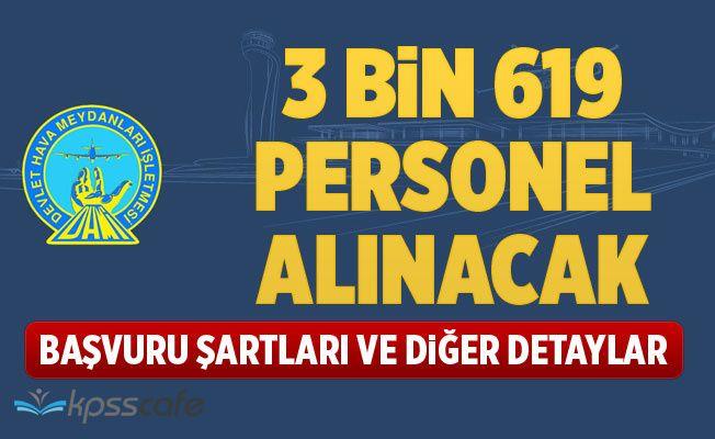 DHMİ 3 bin 619 Güvenlik Görevlisi Alacak!