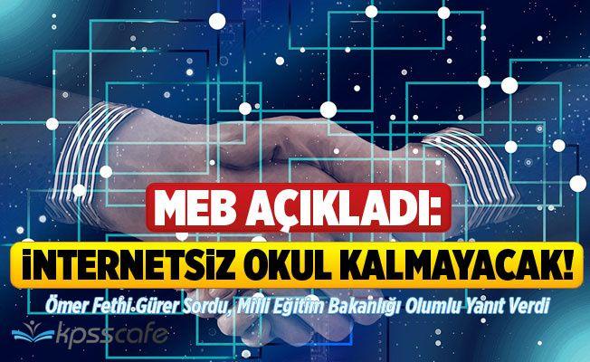 MEB Açıkladı: İnternetsiz Okul Kalmayacak!
