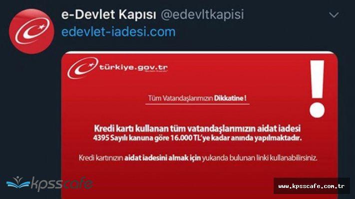 Sosyal medya kullanıcıları dikkat! E-Devlet tuzağı!