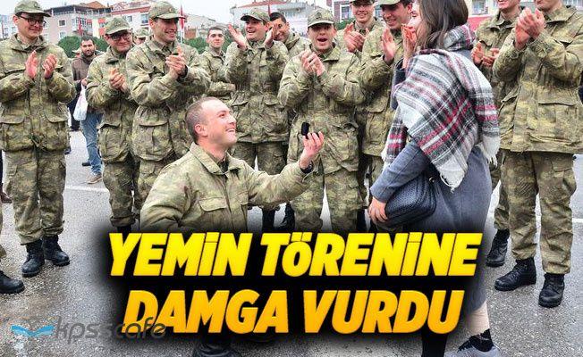 Yemin Töreninde Asker'den Evlilik Teklifi!