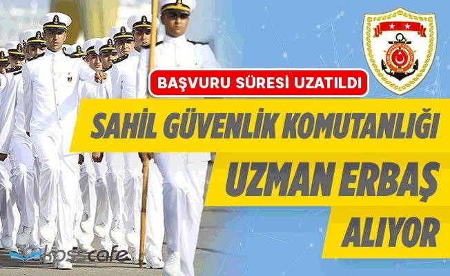 Sahil Güvenlik Komutanlığı Uzman Erbaş Alım Başvuru Süresi Uzatıldı!