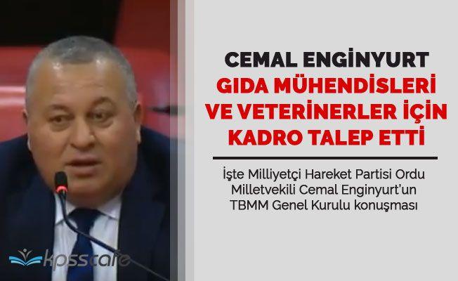 MHP'li Enginyurt Gıda Mühendisleri ve Veterinerlere Kadro Talep Etti!