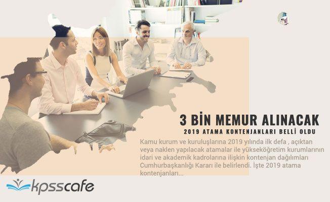 3 bin 200 Memur Alınacak! 2019 Atama Kontenjanları Belli Oldu!