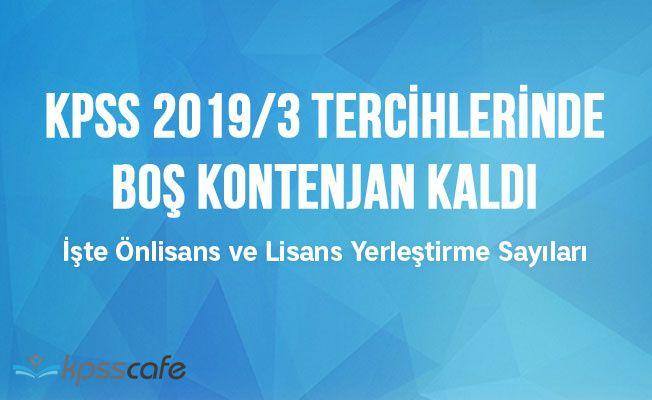 KPSS 2019/3 Tercihlerinde Boş Kontenjan Kaldı!