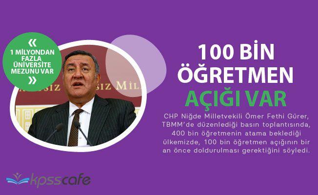 100 Bin Öğretmen Açığı Var!