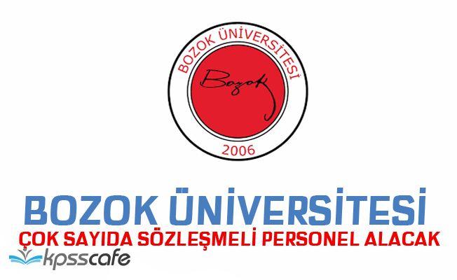 Yozgat Bozok Üniversitesi Sözleşmeli Sağlık Personeli Alıyor!
