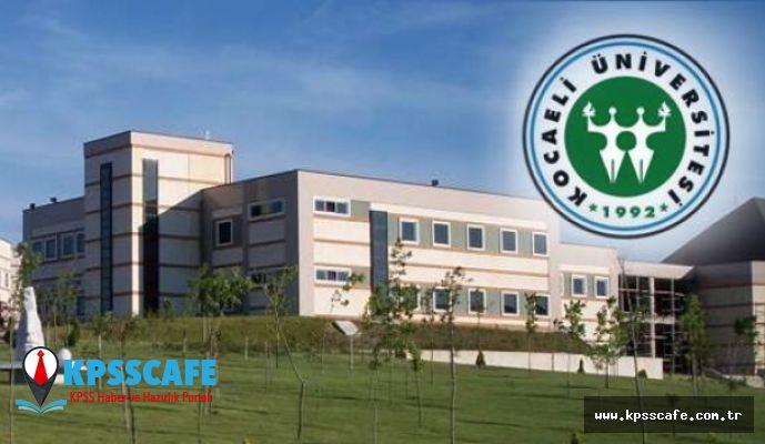 Kocaeli Üniversitesi Personel alım İlanı!