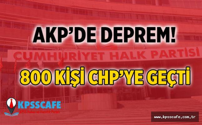 AK Parti'de deprem ! 800 kişi istifa etti!