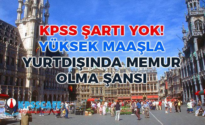 Belçika'da Yüksek Maaşla KPSS'siz Memur Olma Fırsatı!