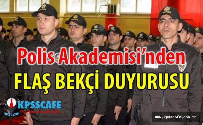 Polis Akademisi'nden Flaş Bekçi Duyurusu!