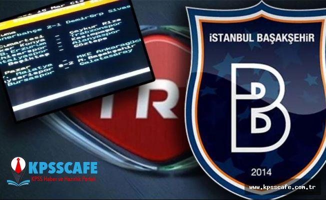 TRT maçın sonucunu önceden yayınladı