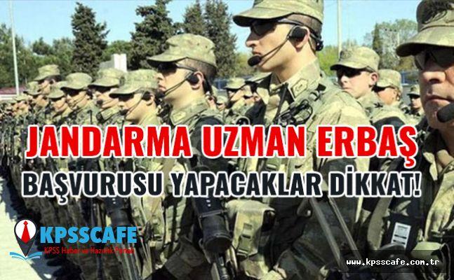 Jandarma Uzman Erbaş Başvurusu Yapacaklar Dikkat!