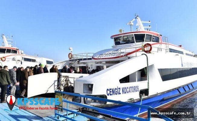İzmir'de Vapur Seferleri Normale Döndü!