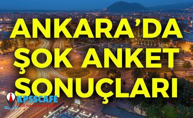 Ankara'da Şok Anket Sonuçları!