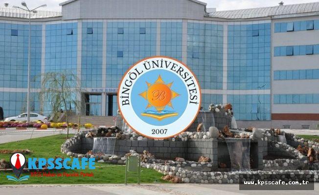 Bingöl Üniversitesi Personel Alım İlanı!