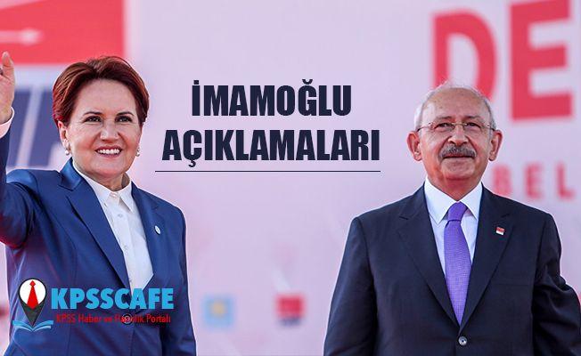 Kılıçdaroğlu ve Akşener'den İmamoğlu Açıklaması!