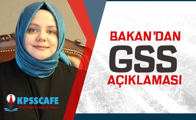 Çalışma Bakanı'ndan GSS Açıklaması!