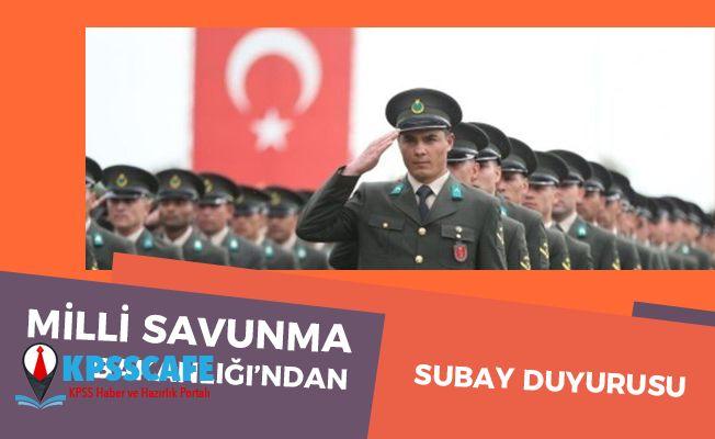MSB'den Subay Duyurusu!