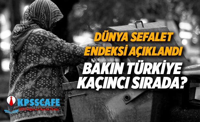 Dünya Sefalet Endeksi Açıklandı: Türkiye Kaçıncı Sırada?