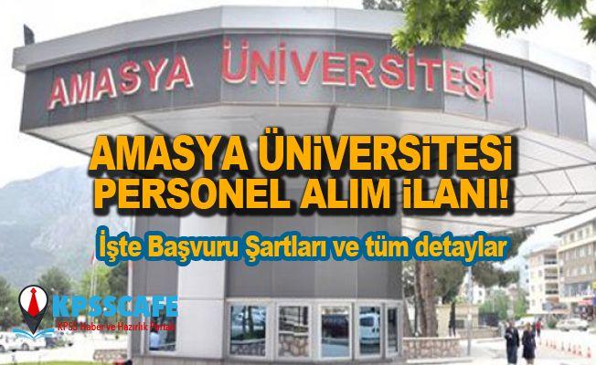 Amasya Üniversitesi Personel Alım İlanı!