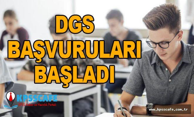 2019 DGS Başvuruları Başladı!