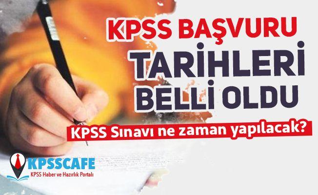 KPSS Başvuru Tarihleri, Geç Başvuru Tarihleri ve KPSS Sınav Tarihleri Belli Oldu!