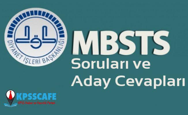 (2019-DİB-MBSTS) Cevap Kâğıtları ve Aday Cevapları yayınlandı!